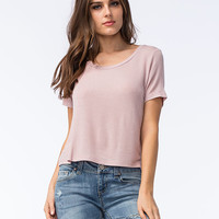 Full Tilt Oh So Easy Womens Tee Pink  In Sizes