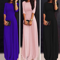 Women Ladies Formal Evening Party Ball Gown Prom Cocktail Maxi Long Dress S-XXL