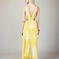 Free People  FP New Romantics Yellow Tie Dye Maxi at Free People Clothing Boutique