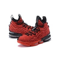 Nike LeBron 15 XV Red/Black Basketball Shoe-1
