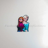 Frozen Inspired Elsa and Anna Magnet or Wall Decor