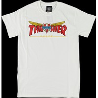 Thrasher Venture Collab Tee Small White Red Yellow
