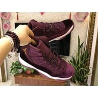Air Jordan 11 Retro Wine Red Velvet Sneaker