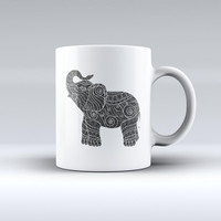 The Zendoodle Elephant ink-Fuzed Ceramic Coffee Mug