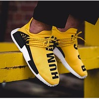 Pharrell Williams x Adidas Consortium NMD Human Race Yellow Sport Running Shoes Classic Casual Shoes Sneakers-1