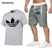 Men's Sets T Shirts+Shorts Two Pieces Sets