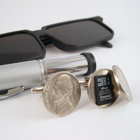 Secret Compartment Cufflinks - Real Hollowed Out Nickels