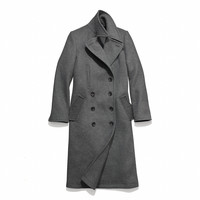 wool fitted basic coat