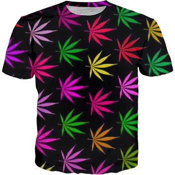 Tropical Pot Leaves (CLOCK SHIRT ICON FOR MORE)
