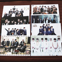 8 pcs set different designs A3 Posters KPOP BTS Bangtan Boys Bulletproof Boy Scouts Paintings Wall Pictures Wall Sticker HB082