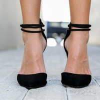 Sorry Not Sorry Black Pointed Toe Heels