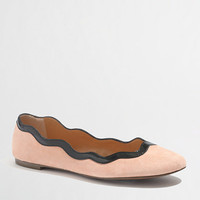Factory suede scalloped ballet flats - Flats - FactoryWomen's Shoes - J.Crew Factory