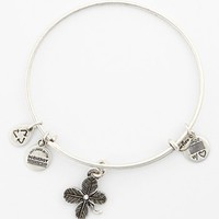 Women's Alex and Ani 'Lucky Clover' Expandable Wire Bangle