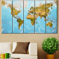 Detailed World map, Large world map, Map of the world, World map wall art, Detailed map, Travel map, World wall map, Geography map