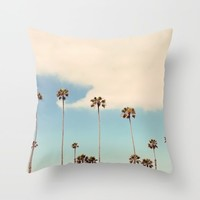 Palm trees Throw Pillow by sylviacookphotography