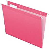 Pendaflex Reinforced Hanging Folders, Letter Size, Pink, 25 per Box (4152 1/5 PIN)