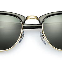Ray-Ban RB3016 901/58 49-21 CLUBMASTER CLASSIC Black sunglasses | Official Online Store US
