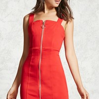Exposed Zipper Bodycon Dress