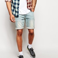 ASOS Denim Shorts In Super Skinny Mid Length