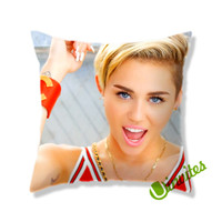 Miley Cyrus Square Pillow Cover