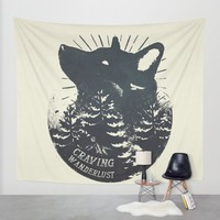 Craving wanderlust Wall Tapestry by HappyMelvin | Society6