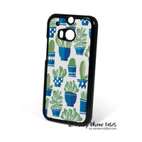 Cactus Pots  HTC One M8 Case Cover for M9 M8 One X Case