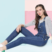 S-XL Puls Size Classic Frayed Denim Overalls Jeans Women jumpsuit Tight High  Waist Ripped Denim Overalls For Women Jeans