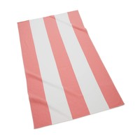 Block Stripe Beach Towel | Coral