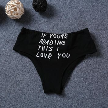 1 Pcs Underwear Sexy Alphabet Hot Sale Women's Fashion Panties [8648197571]