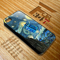 Apple iPhone and iPod case Tardis doctor who fly paint iphone 4 4s, iphone 5 5s 5c, iPod touch 4, iPod 5 case cover