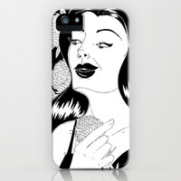 Girl with flower iPhone & iPod Case by JoanaRosaC