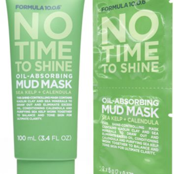 Formula 10.0.6 | No Time To Shine | Oil-Absorbing Mud Mask | Sea Kelp + Calendula