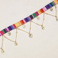 Crowd Surf Choker in Rainbow and Gold
