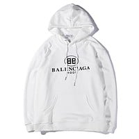Balenciaga Women or Men Fashion Casual Loose Top Sweater Hoodie