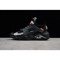 OFF-White x Nike Air Huarache Ultra ID Men Women Running Shoes Black
