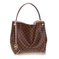 LV Women Shopping Leather Tote Handbag Shoulde Louis Vuitton Damier Canvas Caïssa Hobo Handbag Rose Article:N41556 Made in France