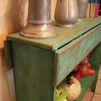 Double Drop Leaf Table Antiqued and Shabby by honeystreasures