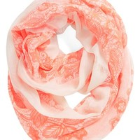 BP. 'Floral Lace' Infinity Scarf (Juniors) | Nordstrom