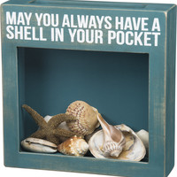 May You Always Have a Shell In Your Pocket - Cork, Cap or Shell Holder - 10-in
