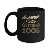 Awesome Since October 2005 Vintage 15th Birthday Gifts