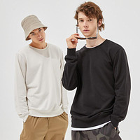 Autumn and Winter New Comfort Sweatshirt Men Thick Knit Pullover Solid Color Couple Hoodies
