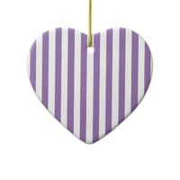Bellflower Violet And Vertical White Stripes Ornaments from Zazzle.com