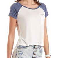 Zipper-Pocket High-Low Baseball Tee