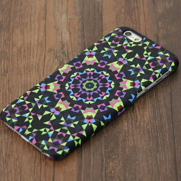 Colorful style flower geometric iPhone 6s Case/Plus/5S/5C/5/4S Case #657