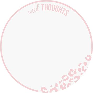 Wild Thoughts Leopard Diecut Notepad in Blush Pink