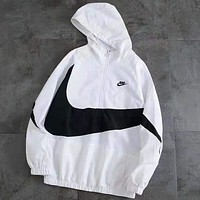 NIKE Tide brand big hook LOGO half zip jacket windbreaker