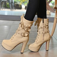 women Extreme High Heels Ankle Boots for winter