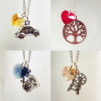 Once Upon A Time Character Necklaces: Emma, Regina, Belle, Rumpelstiltskin