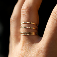 Gold Filled stacking rings set of 4