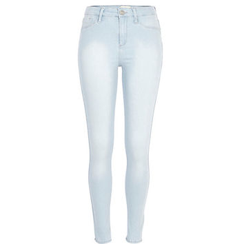 River Island Womens Light wash Molly reform jeggings